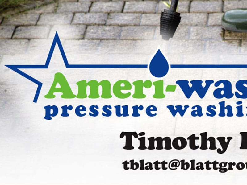 Ameri-wash Business Card