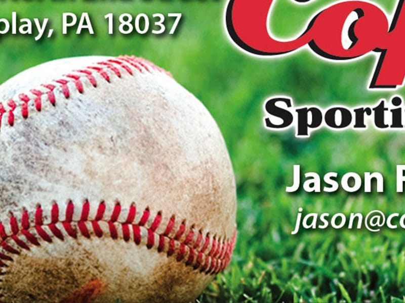 Coplay Sporting Goods Business Card