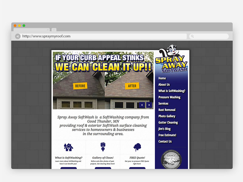 SprayAway Softwash Website Design